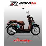 Striping Transparan Premium Honda Scoopy 2014 / 2015 / 2016