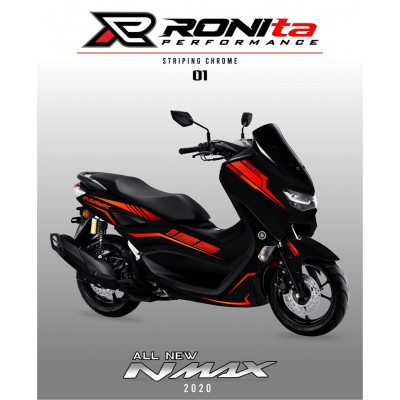 Striping Chrome Yamaha All New NMAX 155
