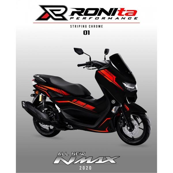 Striping Chrome Yamaha All New NMAX 155